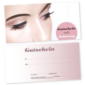 Gutscheinkarte für Wimpernverlängerung AUGENBLICK (Gutscheinkarte)