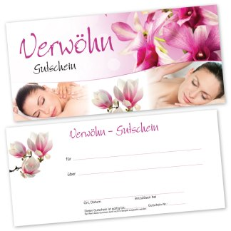 Massage Gutscheinkarte RELAXING WOMEN (Gutscheinkarte)