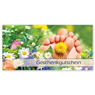 Gutscheine für Fußpflege, Pediküre und Podologie