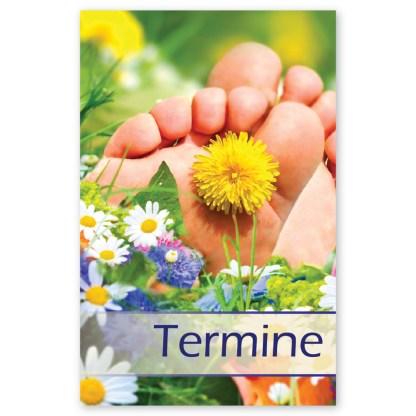 Fußpflege Terminkarte SOMMERWIESE mit 5 Terminen