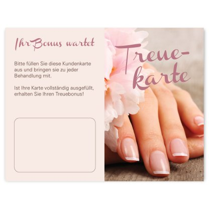 Nagelpflege Kundenkarte NATURAL NAILS