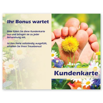 Fußpflege Kundenkarte SOMMERWIESE