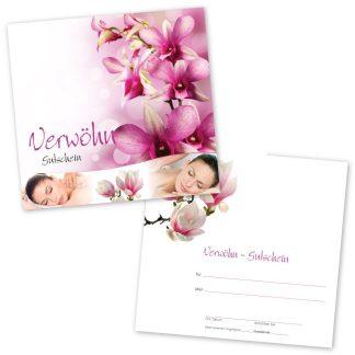 Massage Gutschein RELAXING WOMEN (Klappgutschein)