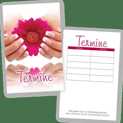 Handpflege-Terminkarte FRENCH NAILS mit 5 Terminen