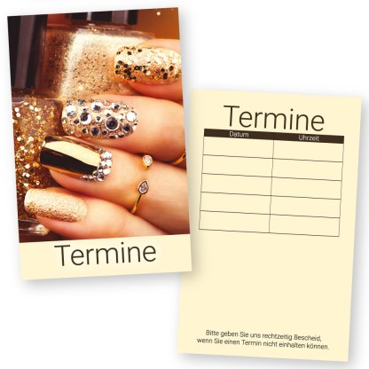 Nageldesign Terminkarte GLAMOUR NAILS mit 5 Terminen