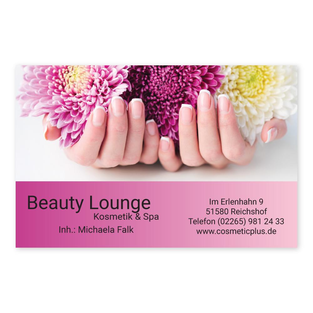 Maniküre Visitenkarte Flower Nails Querformat