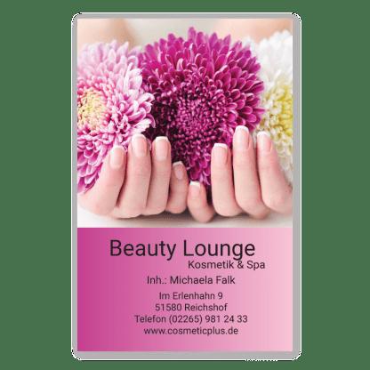 Maniküre-Visitenkarte FLOWER NAILS (Hochformat)