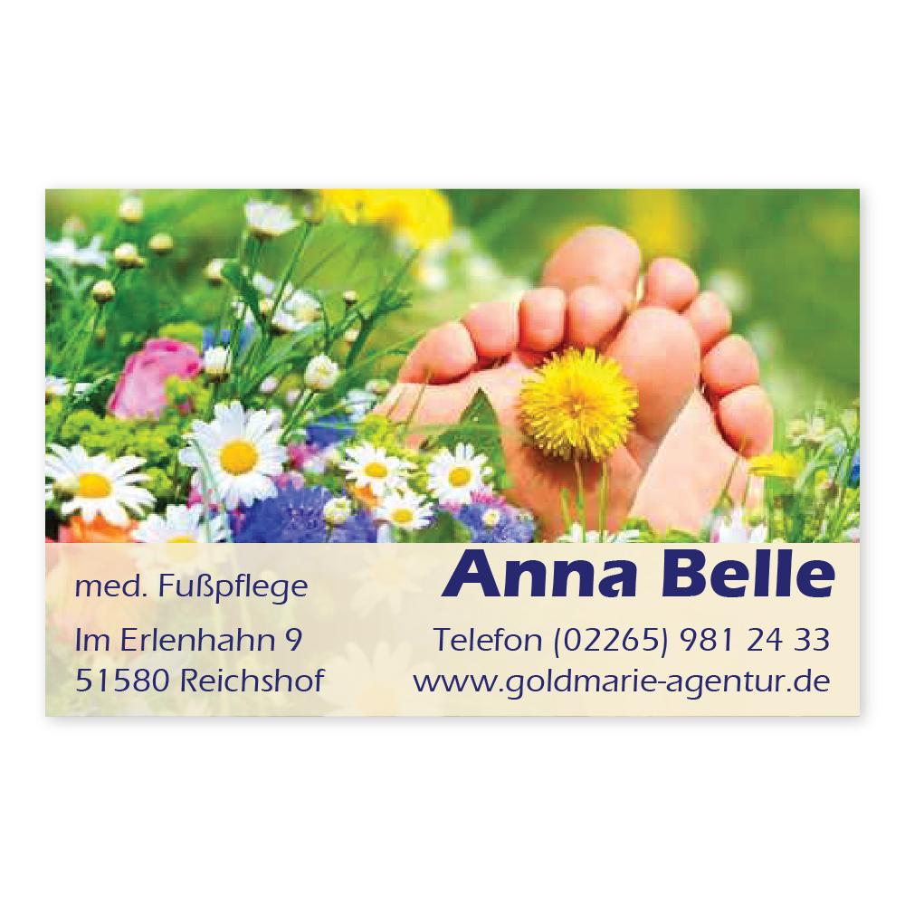 Fußpflege Visitenkarte Sommerwiese Querformat