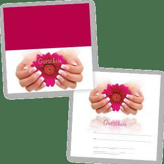 Handpflege Klappgutschein FRENCH NAILS (Klappgutschein)