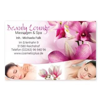 MassageVisitenkarte RELAXING WOMEN (Querformat)