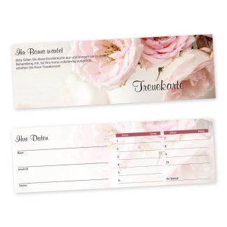 Bonuskarte VINTAGE (Querformat) für Mode, Geschenke, Service, Blumen