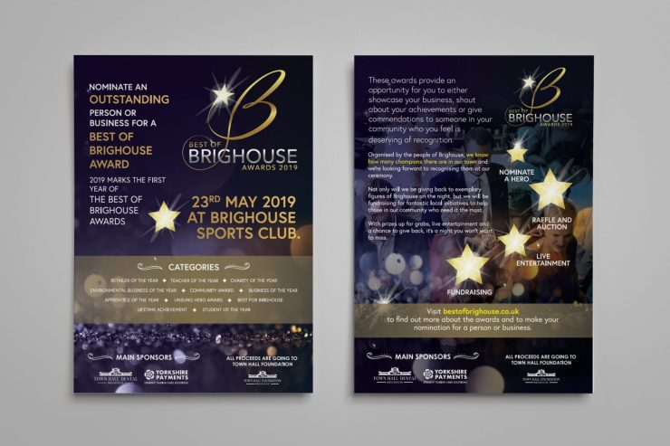 Glossy Flyer Design for the Best of Brighouse Awards