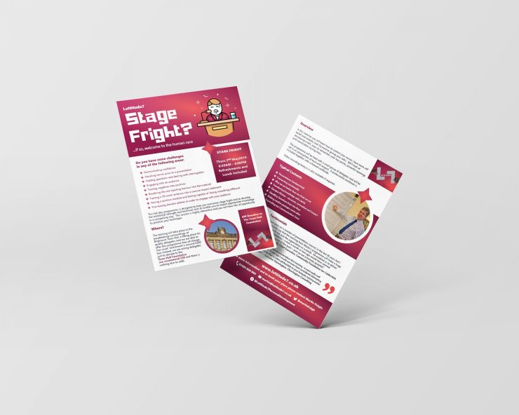 Double Sided Flyer Design Brighouse West Yorkshire