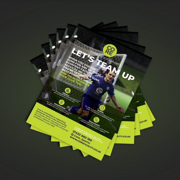 Flyer designs for sports