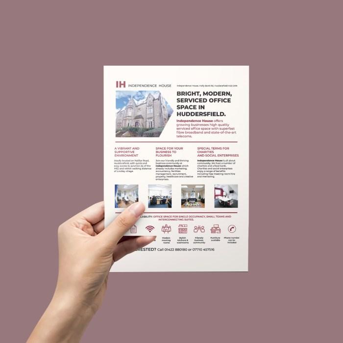 Full page magazine advert design