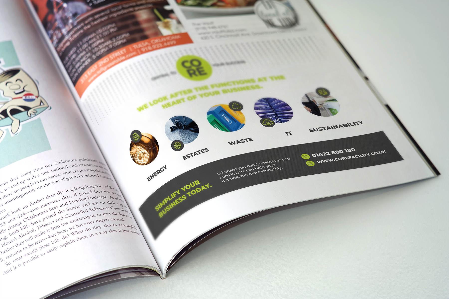 Advert for magazine design