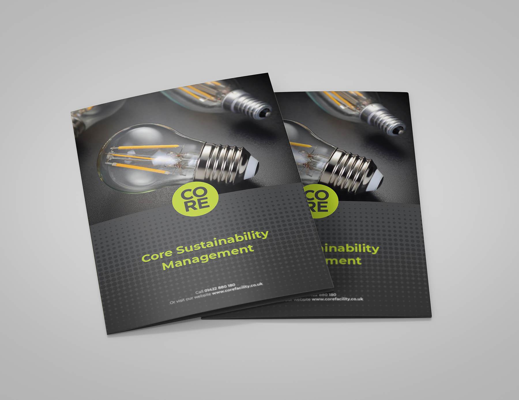 A5 folded leaflet design