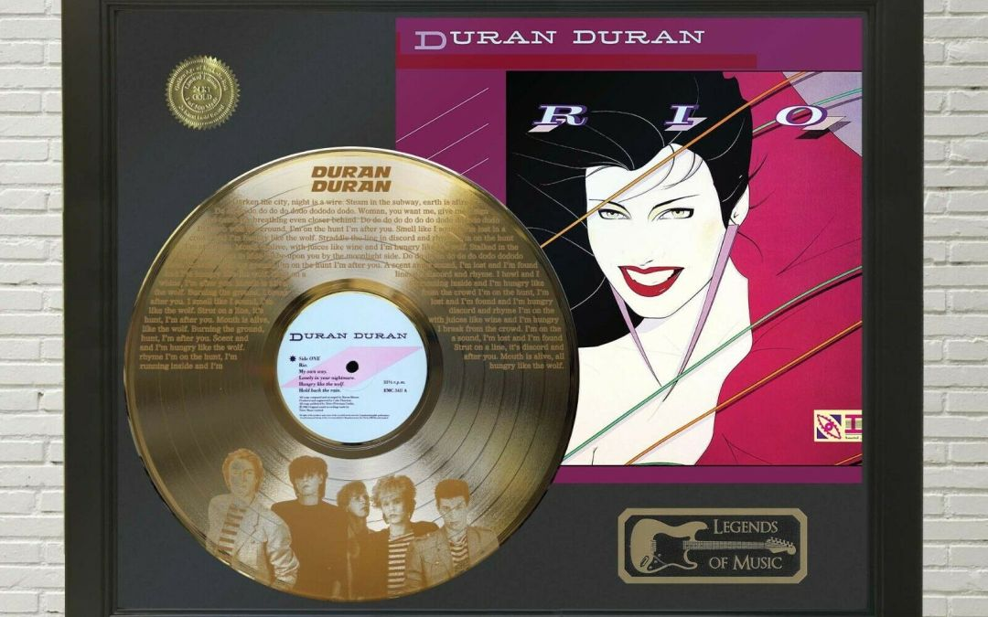 Duran Duran – Hungry Like The Wolf Framed Legends Of Music Etched Gold LP Record Display