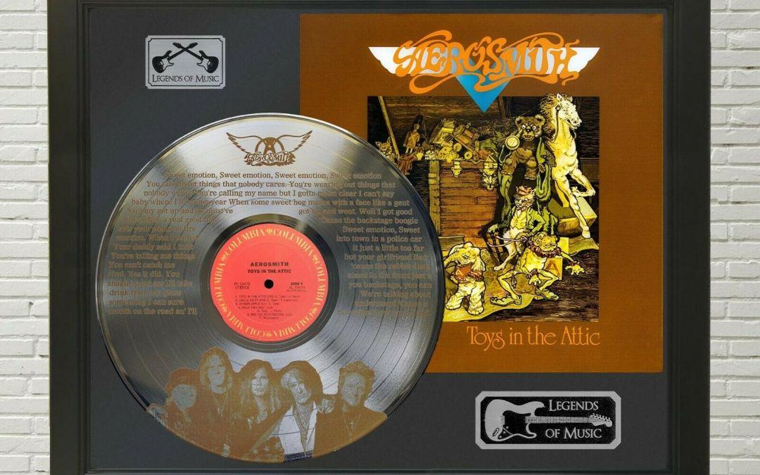 Aerosmith – Sweet Emotion Framed Legends Of Music Platinum LP Record Display