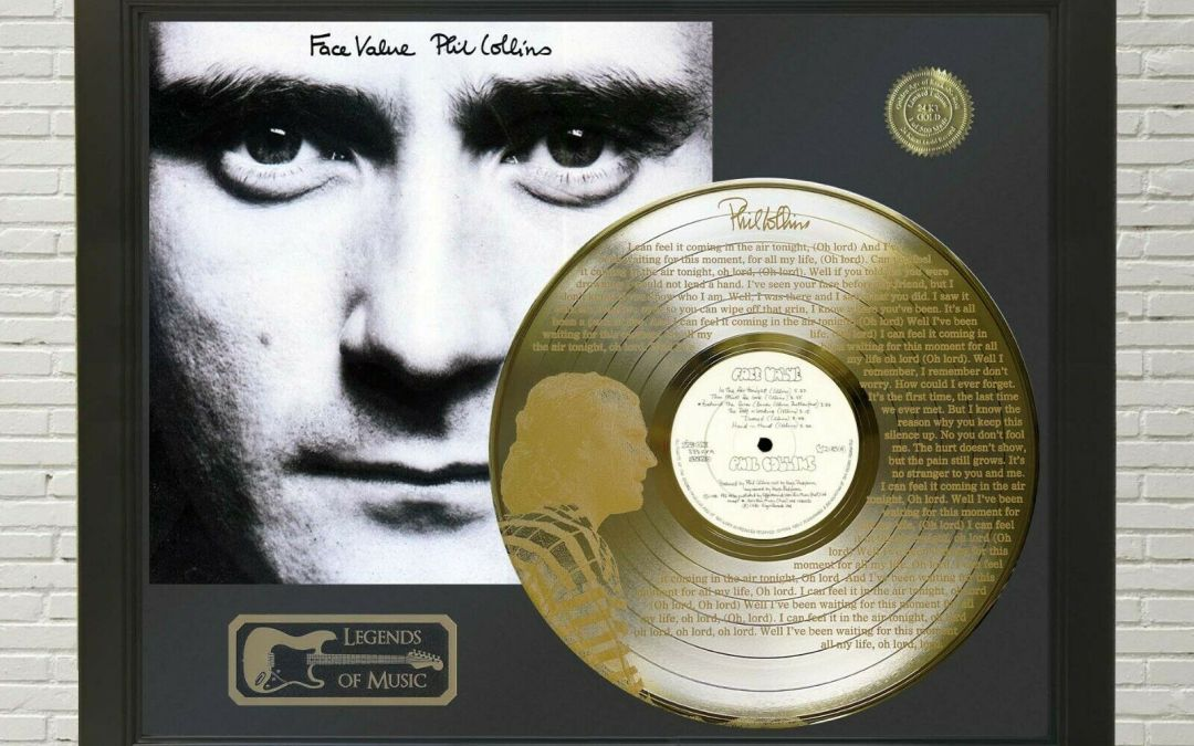 Phil Collins – In the Air Tonight Framed Legends Of Music Etched Gold LP Record Display