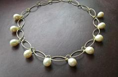 oldkette unfertig mit Perlen