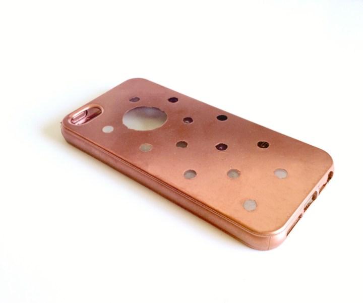 DIY TRANSPARENT GEPUNKTETES IPHONE-CASE