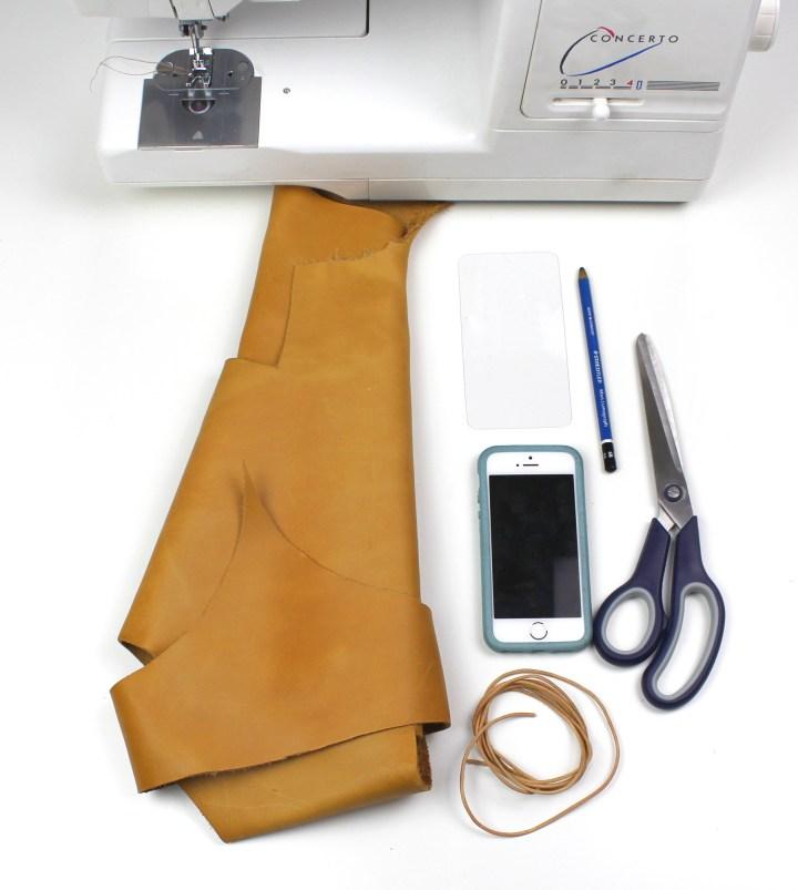 DIY Leder Handyhülle Umhängetasche (3)