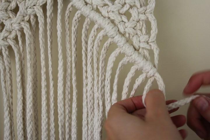 Makramee Blumenampel Wandbehang (3)