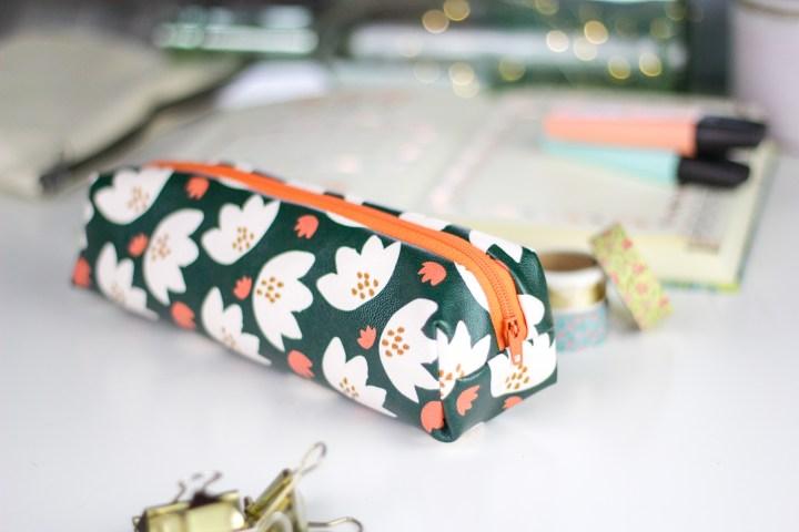 DIY einfaches Leder-Federmäppchen nähen