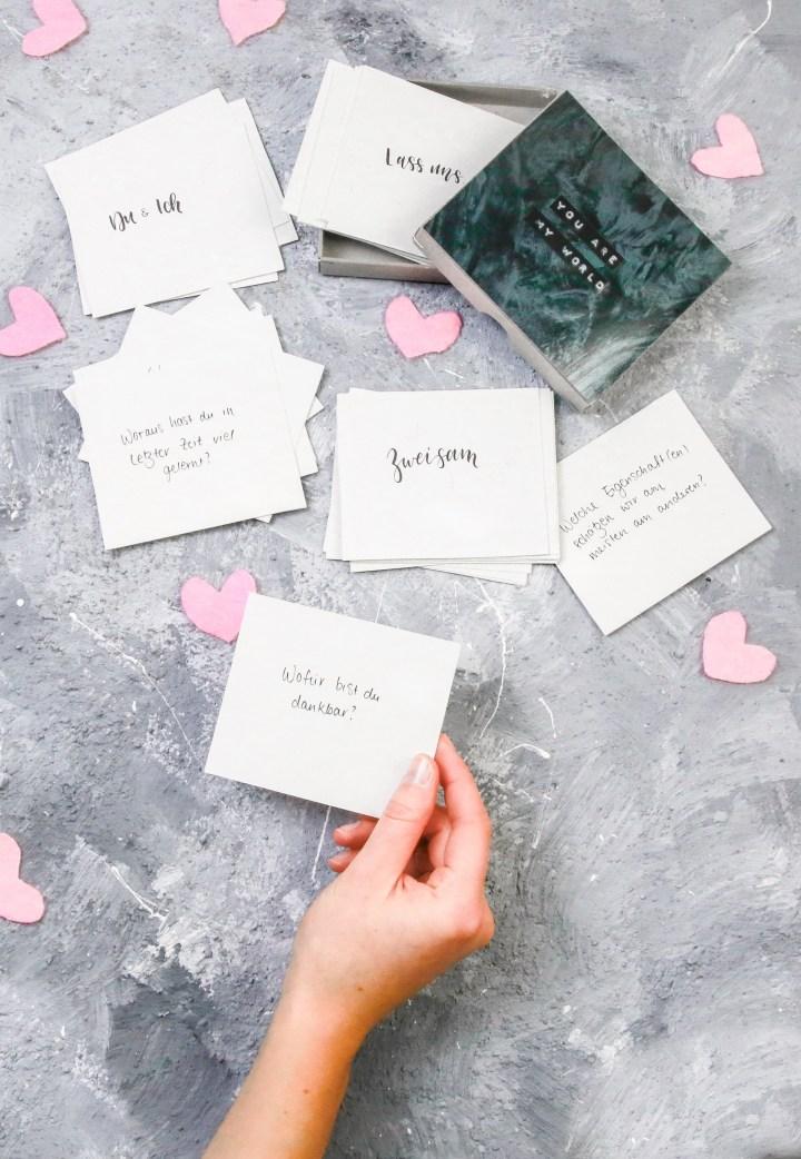 DIY Geschenk für den Valentinstag: Partnerschaftsspiel