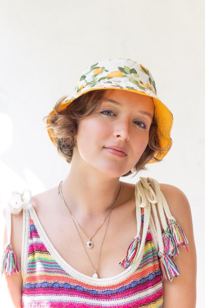 DIY Fischerhut Bucket Hat nähen Goldschool DIY Antonia Pröls