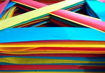 Red / Yellow / Blue - close up of layers