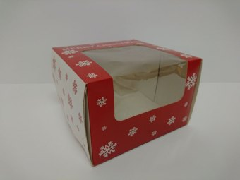 PRINTED WINDOWED CAKE BOX