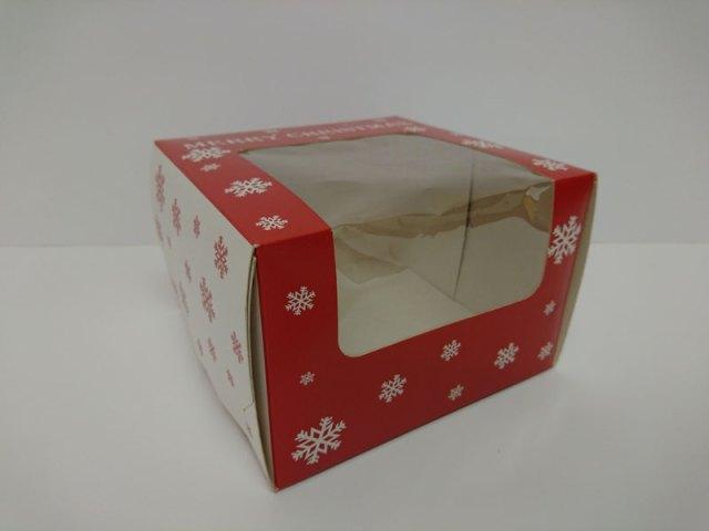 PRINTED WINDOWED CAKE BOX