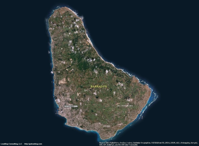 Barbados Satellite Maps   LeadDog Consulting Bridgetown  Barbados Satellite Maps