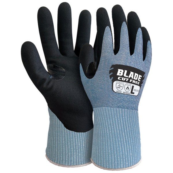 Armour Safety BLADE Cut Level 5 Foam Nitrile Open Back Glove