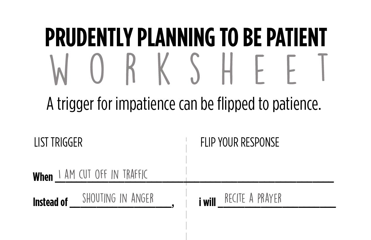 Patience Worksheet Lumen Ecclesiae Press