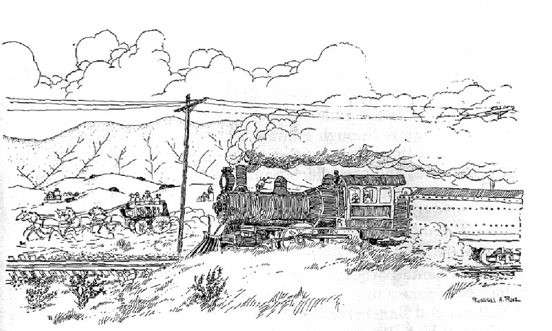 stagecoach and train