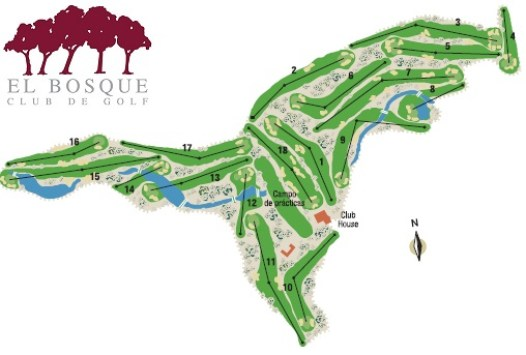 1CV El Bosque course map - Valencia - Costa Blanca