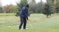 Wyniki pierwszego dnia Otwartych Mistrzostw Bydgoszczy w Golfie.  Mimo przeszywającego zimna Piotr Słojewski zagrał 59!