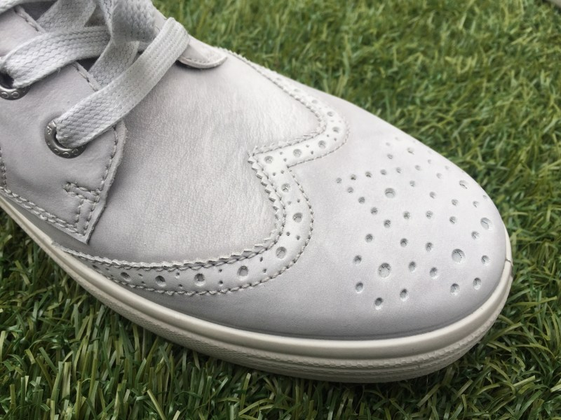 Wider toe box and brogue detailing.