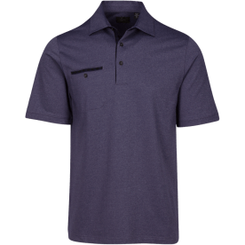 Greg Norman Modern Heritage Heathered Pocket Polo