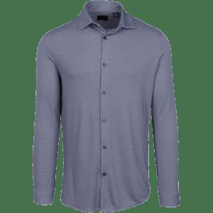 Greg Norman Modern Heritage Knit Sport Shirt Navy