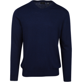 Luxury Blend V-Neck Sweater in Navy