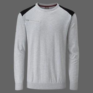 Plato Sweater in Silver Marl/Black