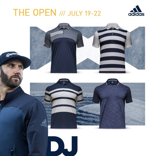 Dustin Johnson 2018 Open Championship Apparel Scripts