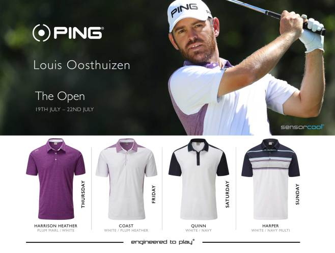 Louis Oosthiuzen 2018 Open Championship Apparel Scripts