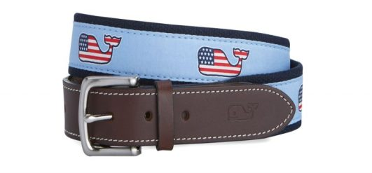 vineyard vines flag whale canvas belt