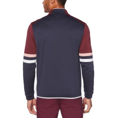 holiday gifts Color Block Full Zipped Golf Fleece back