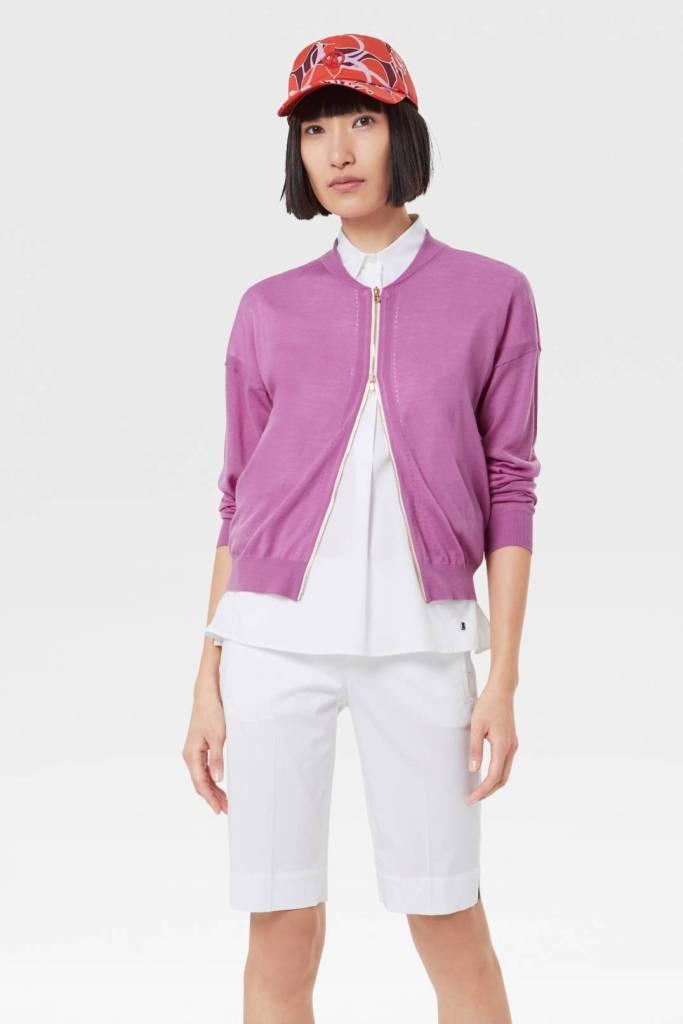 pink bogner colina knit jacket